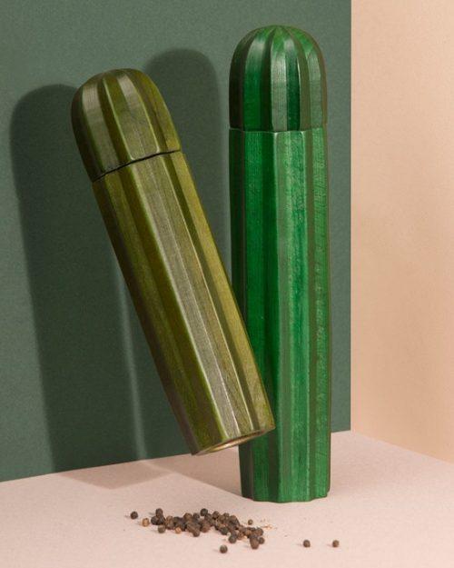 Salière et poivrière Cacti Vert | DOIY - 55€